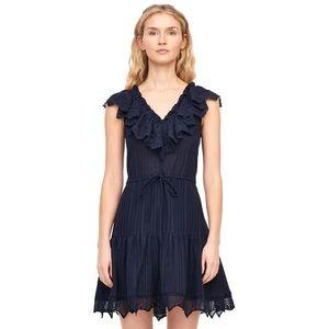 Rebecca Taylor Mariana Navy  Eyelet Dress 2